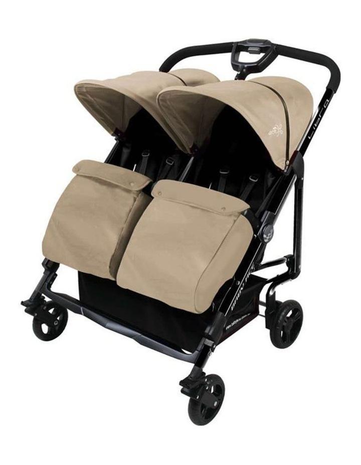 Baby Ace Libra Twin Stroller - Khahki image 1
