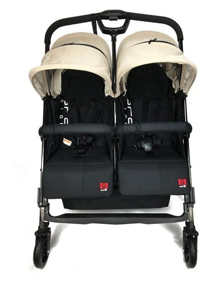 Baby Ace Libra Twin Stroller - Khahki image 2