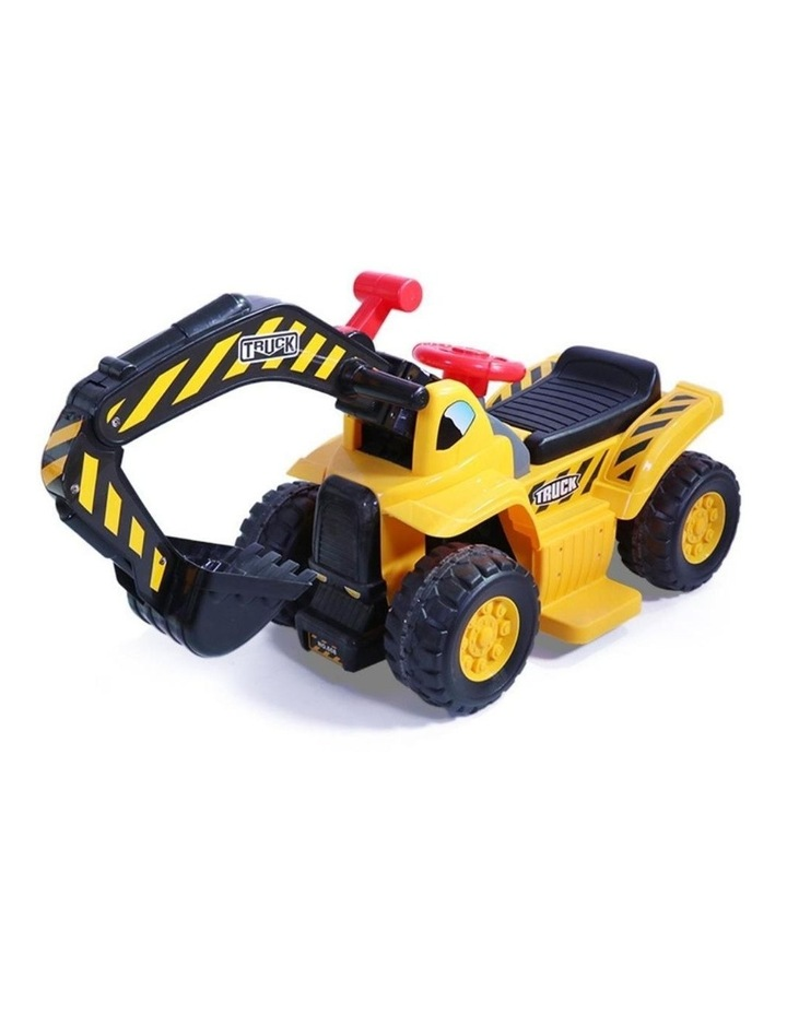 Kids Electric Ride on Car Digger Excavator image 1