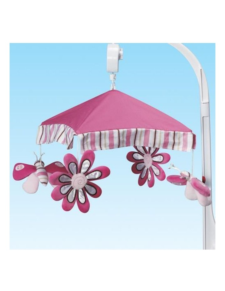 Musical Baby Cot Mobile - Butterfly Pink image 3