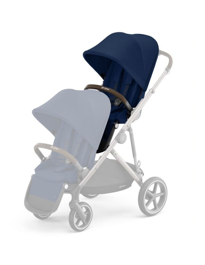 Gazelle S Second Seat- Taupe/Navy Blue image 1