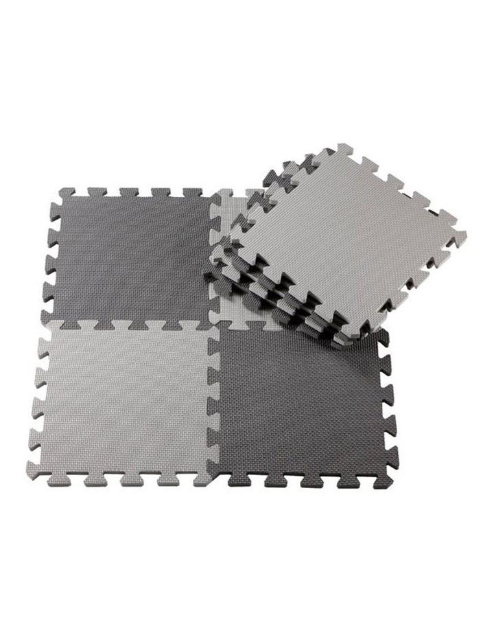 Puzzle Floor Mat 24 Pack -Dark Grey/Light Grey image 1