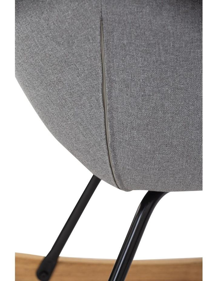 Anya Rocking Chair Grey image 3