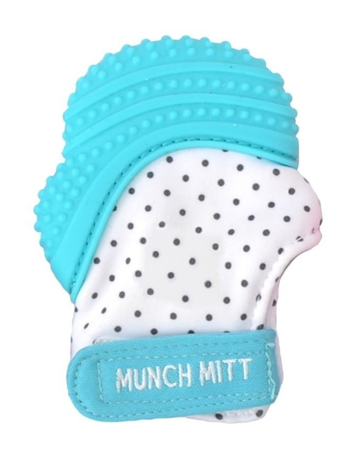 Munch Mitt Teething Mitten Aqua Blue image 1