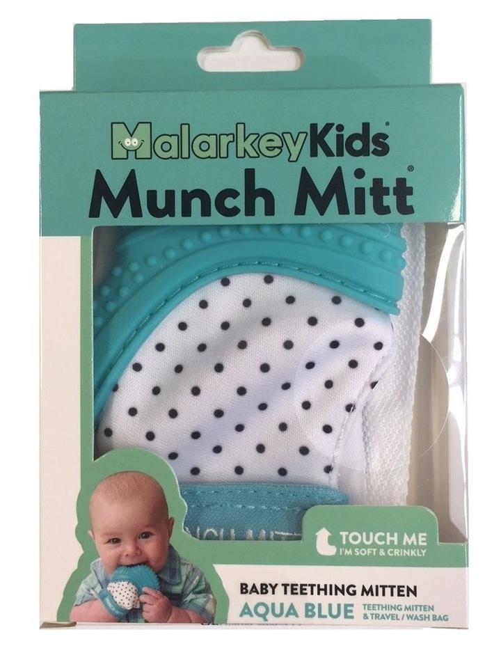 Munch Mitt Teething Mitten Aqua Blue image 3