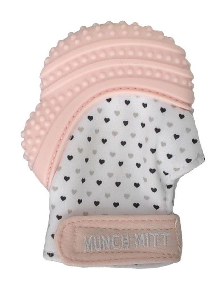 Munch Mitt Teething Mitten Pastel Pink image 1