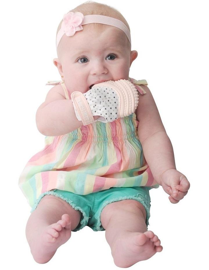 Munch Mitt Teething Mitten Pastel Pink image 3
