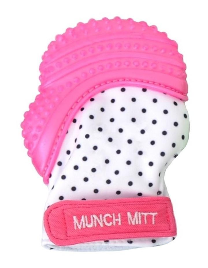 Munch Mitt Teething Mitten Pink Dots image 1