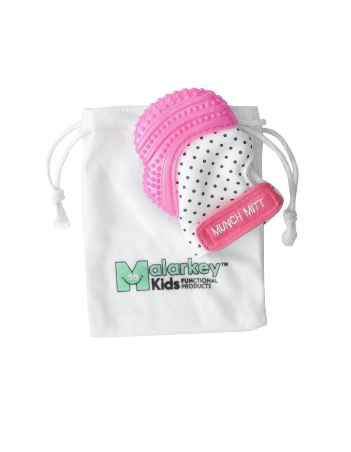 Munch Mitt Teething Mitten Pink Dots image 2