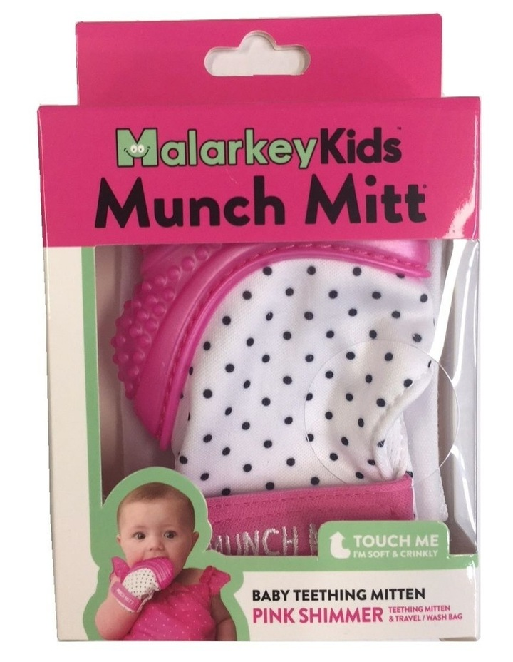 Munch Mitt Teething Mitten Pink Dots image 3