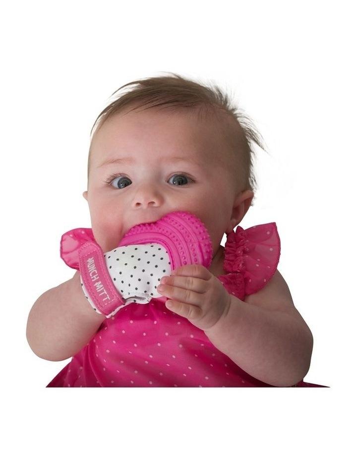 Munch Mitt Teething Mitten Pink Dots image 4