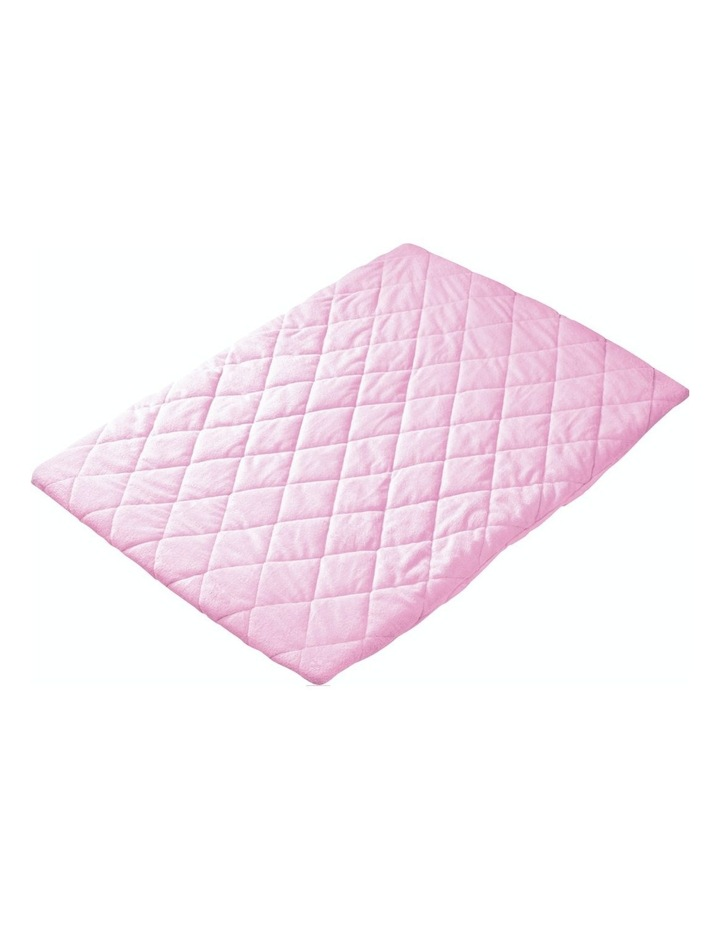 Quilted Travel Cot Fitted Padded Sheet Pink image 1