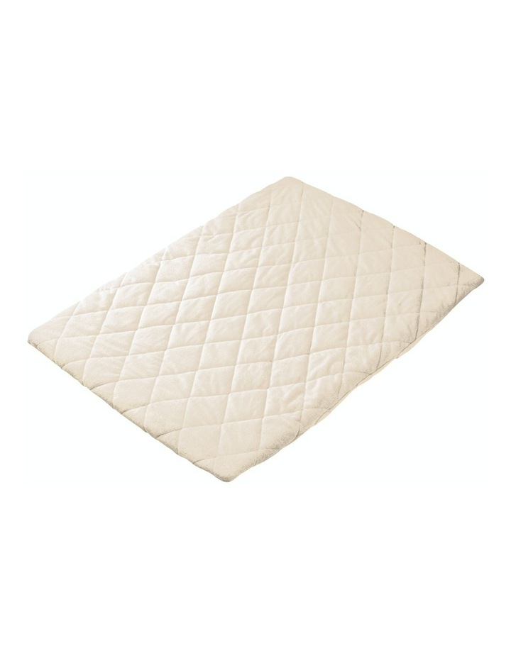 Quilted Travel Cot Fitted Padded Sheet Cream image 1