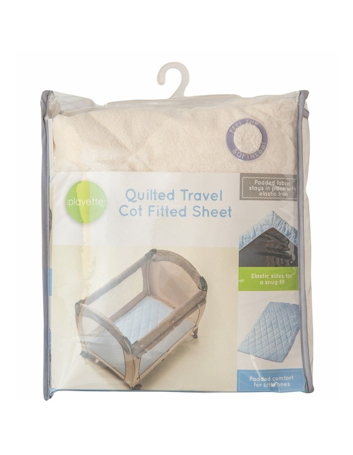 Quilted Travel Cot Fitted Padded Sheet Cream image 3