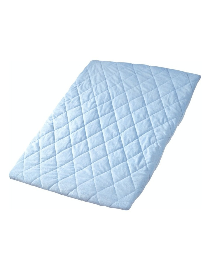 Quilted Travel Cot Fitted Padded Sheet Blue image 1