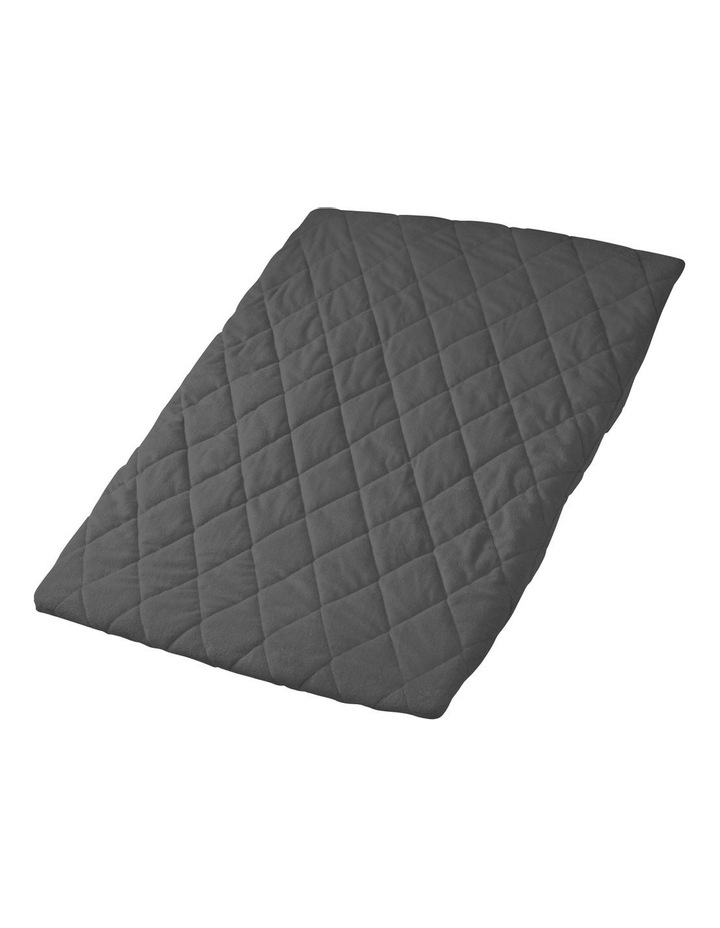 Quilted Travel Cot Fitted Padded Sheet Charcoal image 1