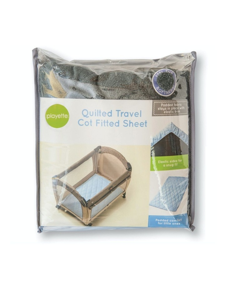 Quilted Travel Cot Fitted Padded Sheet Charcoal image 3