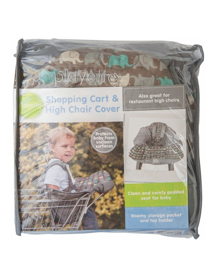 Shopping Trolley and High Chair Cover Elephant image 2