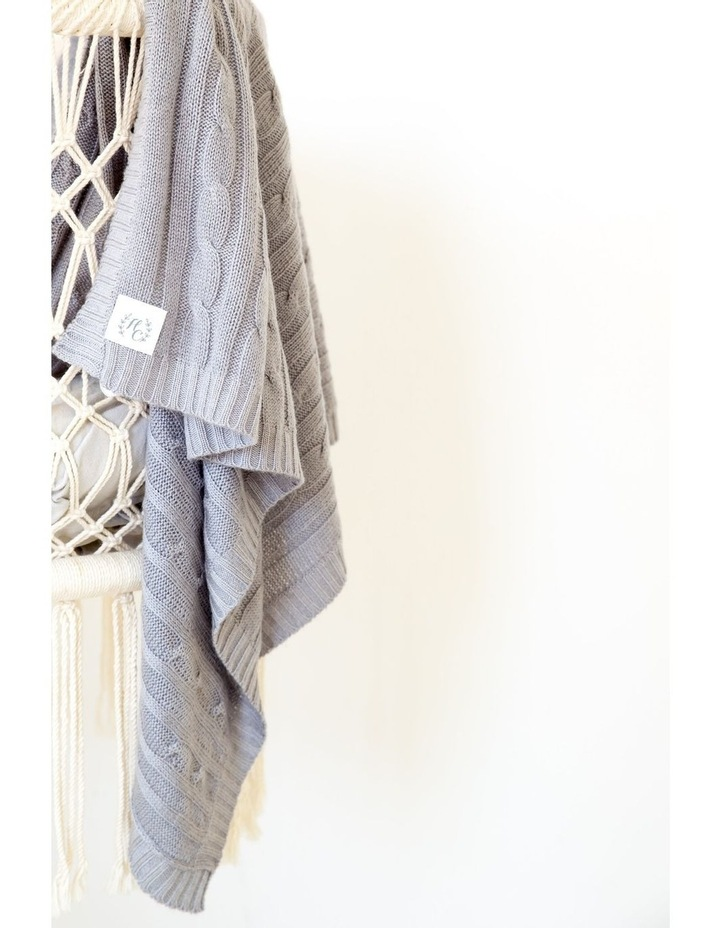 Cashmere Cable Knit Baby Blanket - Ash image 4