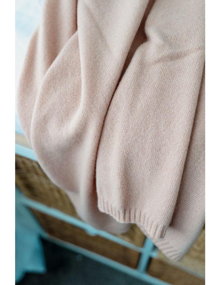 Cashmere Plain Knit Baby Blanket - Cinnamon image 2