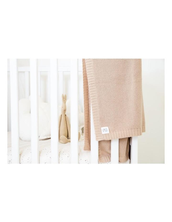 Cashmere Plain Knit Baby Blanket - Cinnamon image 3