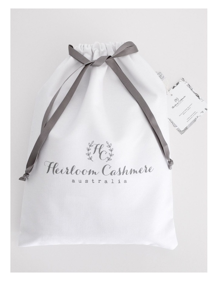 Cashmere Plain Knit Baby Blanket - Cinnamon image 4
