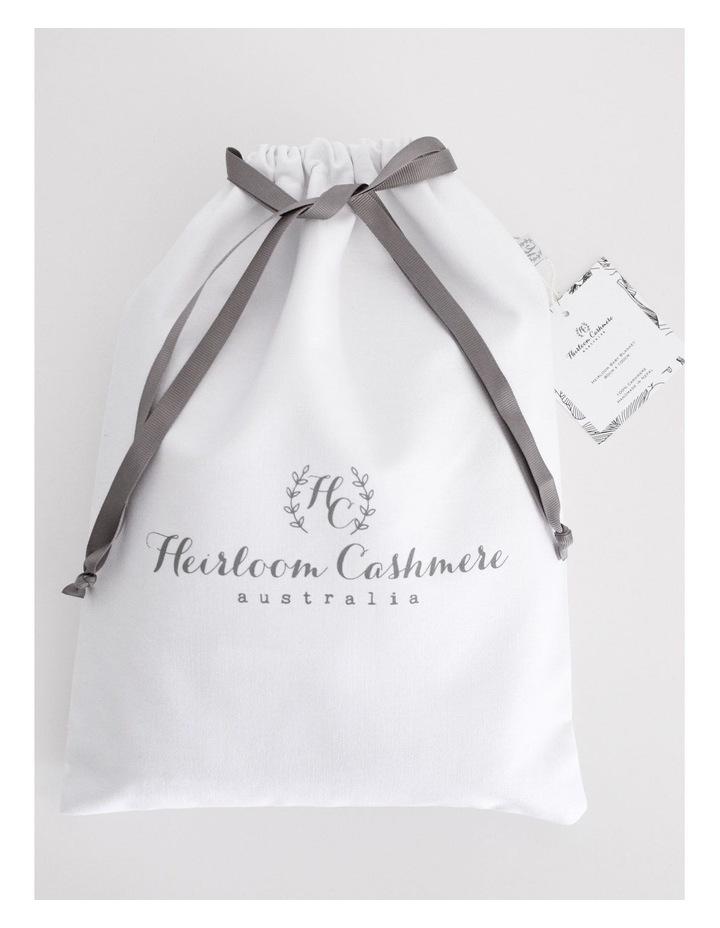 Cashmere Plain Knit Baby Blanket - Indigo image 4