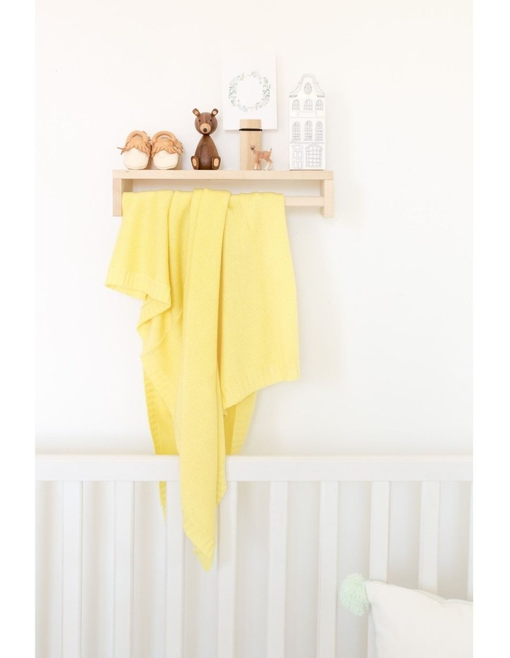 Cashmere Plain Knit Baby Blanket - Lemon image 3