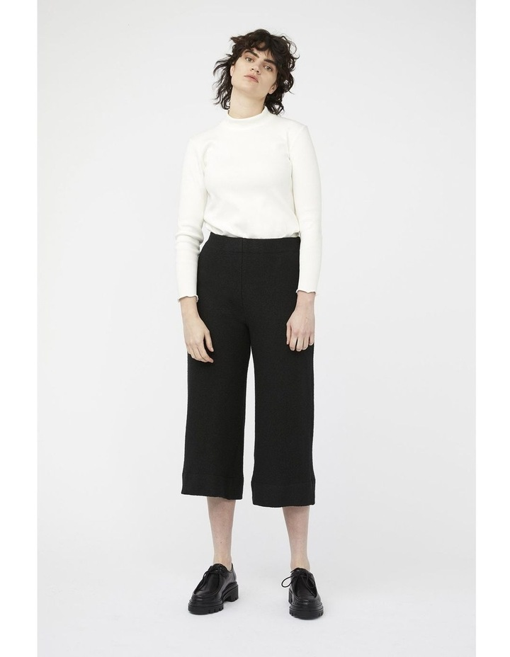 Mosaic Pants [ Black Wool Blend ] image 2