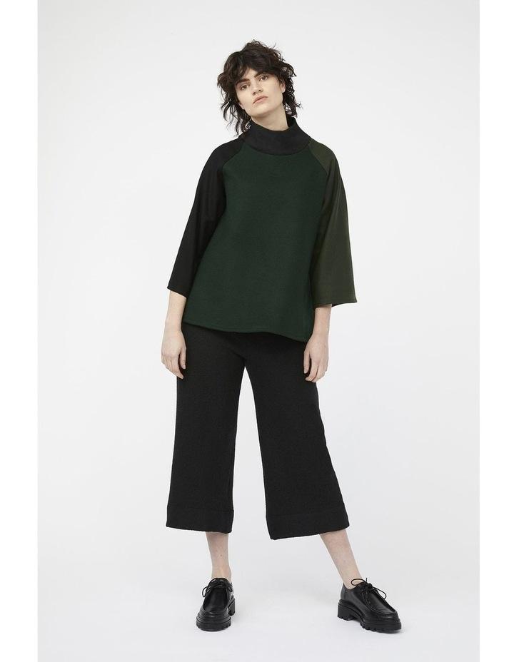 Mosaic Pants [ Black Wool Blend ] image 4