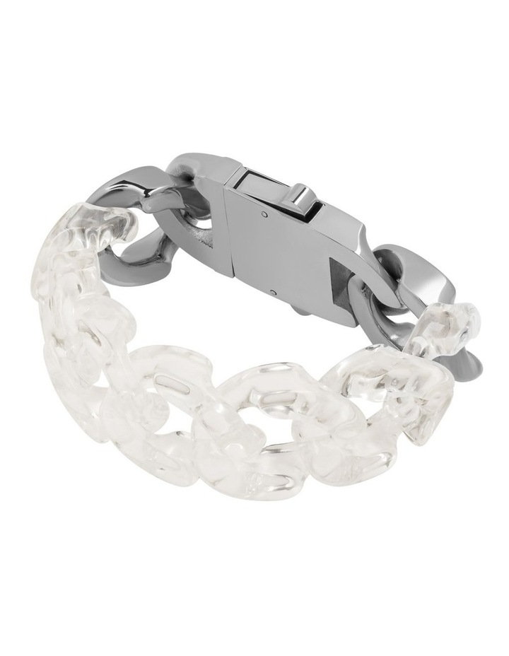Static Bracelet Clear / Stainless Steel image 1