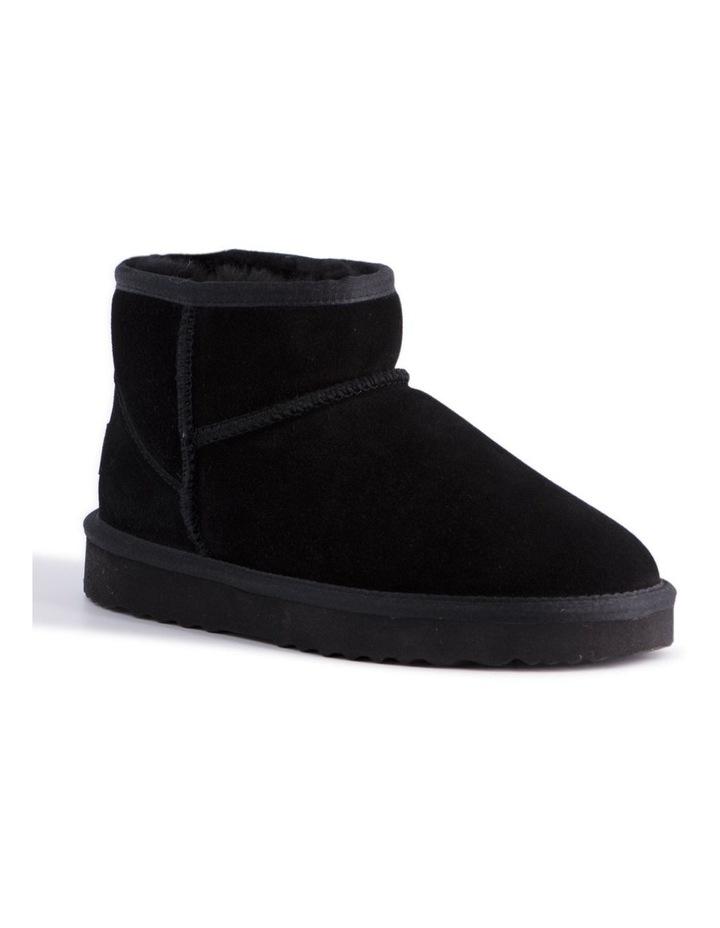 Short Sheepskin Ankle Boot - Black image 1