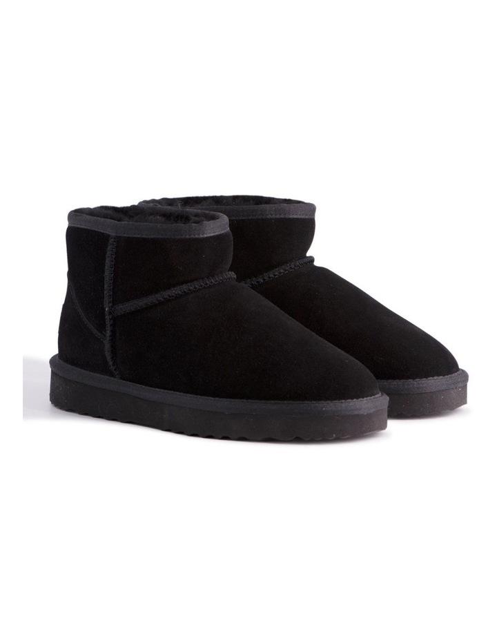 Short Sheepskin Ankle Boot - Black image 2