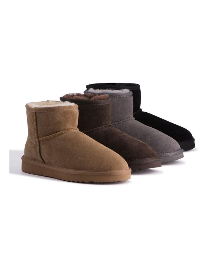 Short Sheepskin Ankle Boot - Black image 5