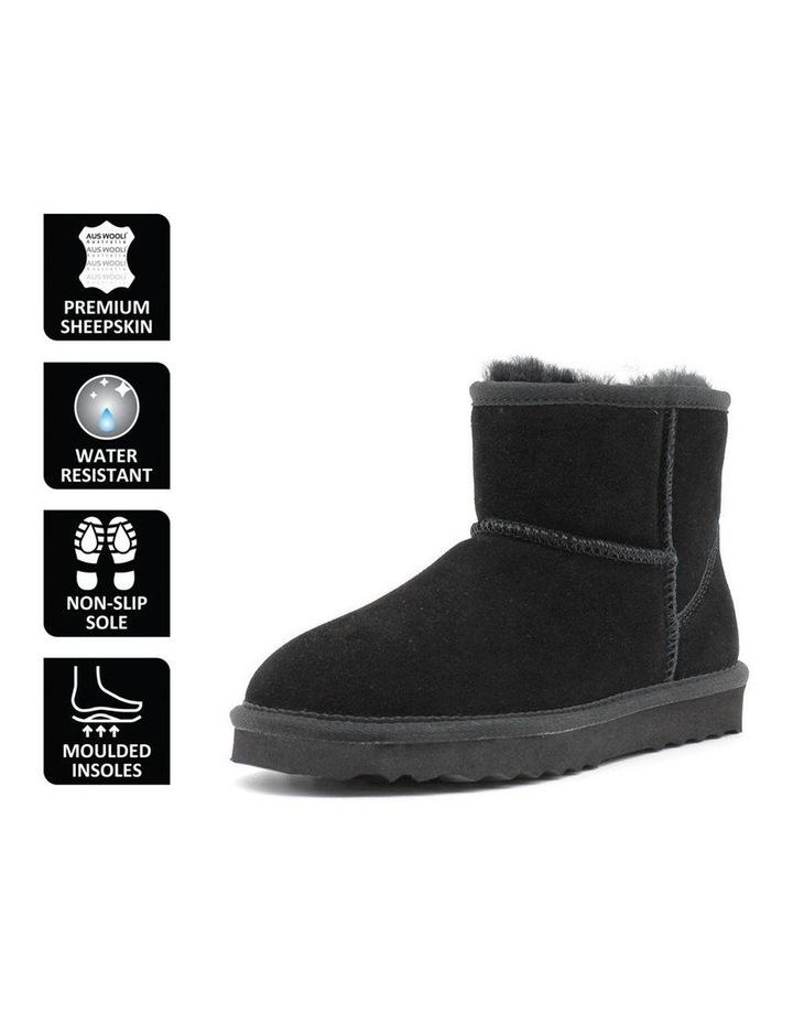 Short Sheepskin Ankle Boot - Black image 6