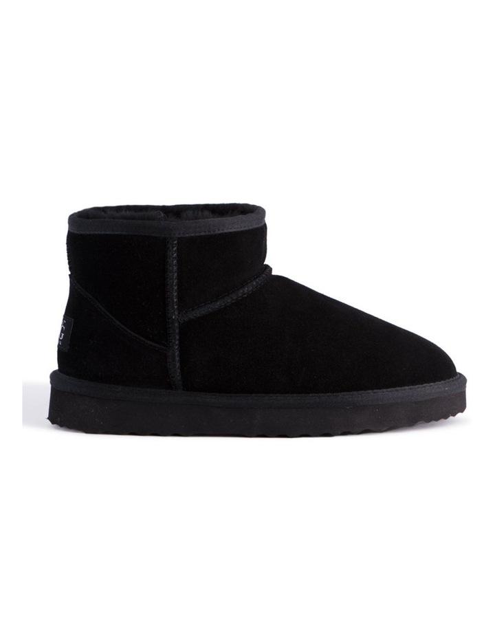 Short Sheepskin Ankle Boot - Black image 7