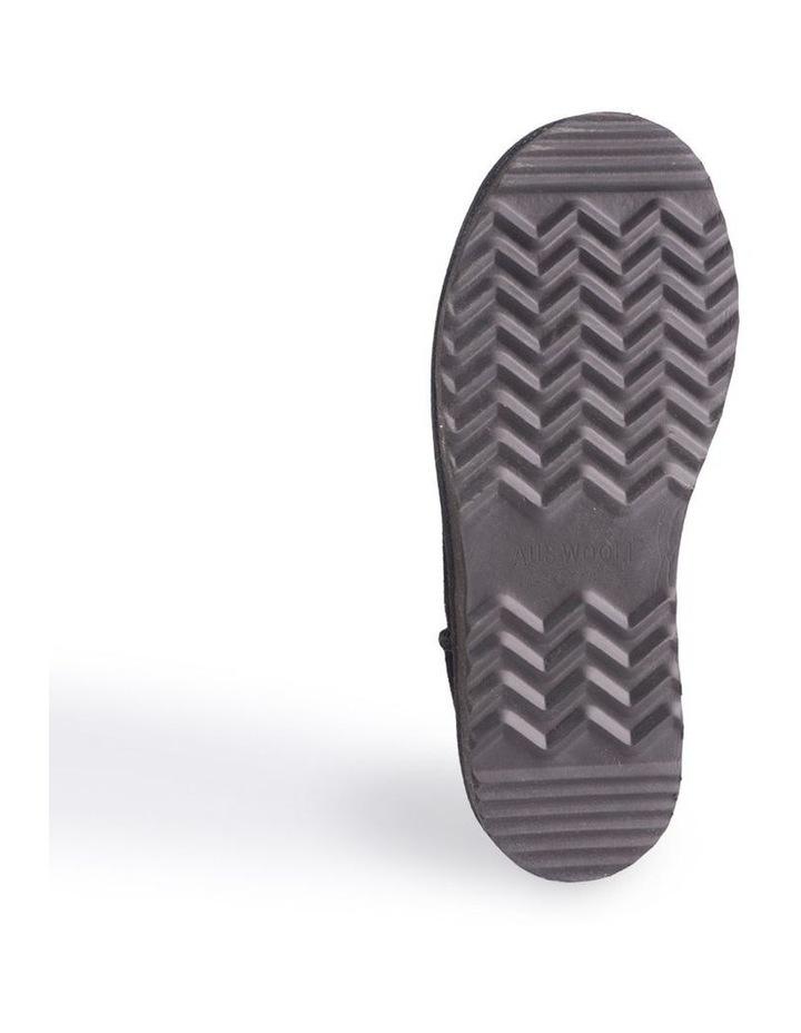 Mid Calf Zip-Up Sheepskin Boot - Black image 3