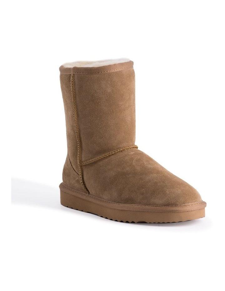 Mid Calf Zip-Up Sheepskin Boot - Chestnut/Tan image 1