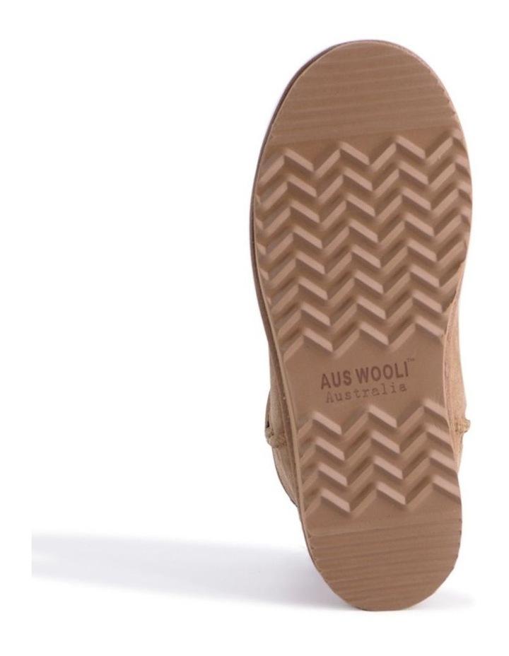 Mid Calf Zip-Up Sheepskin Boot - Chestnut/Tan image 3