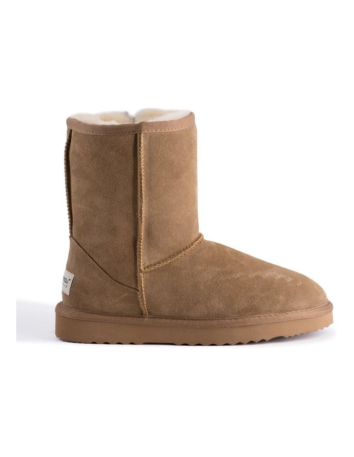 Mid Calf Zip-Up Sheepskin Boot - Chestnut/Tan image 7