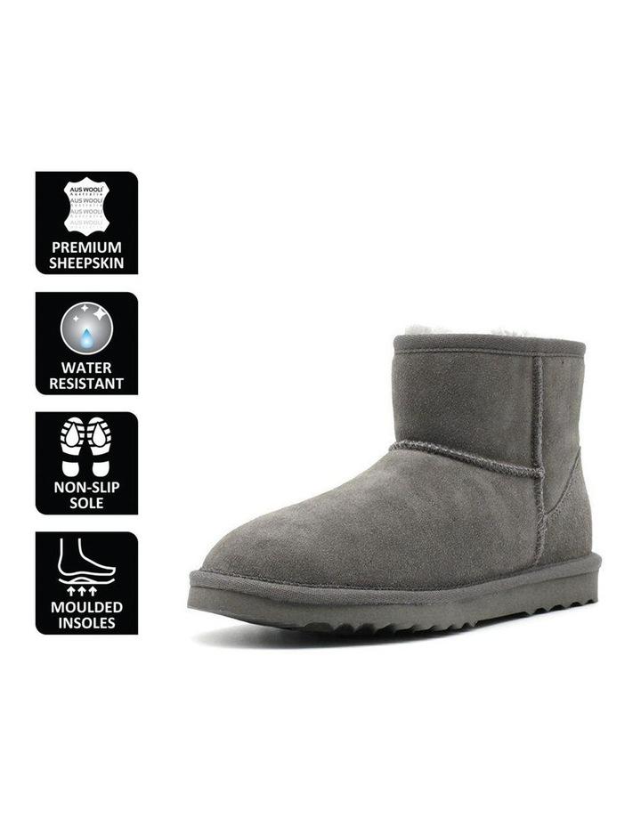 Short Sheepskin Ankle Boot - Grey image 6