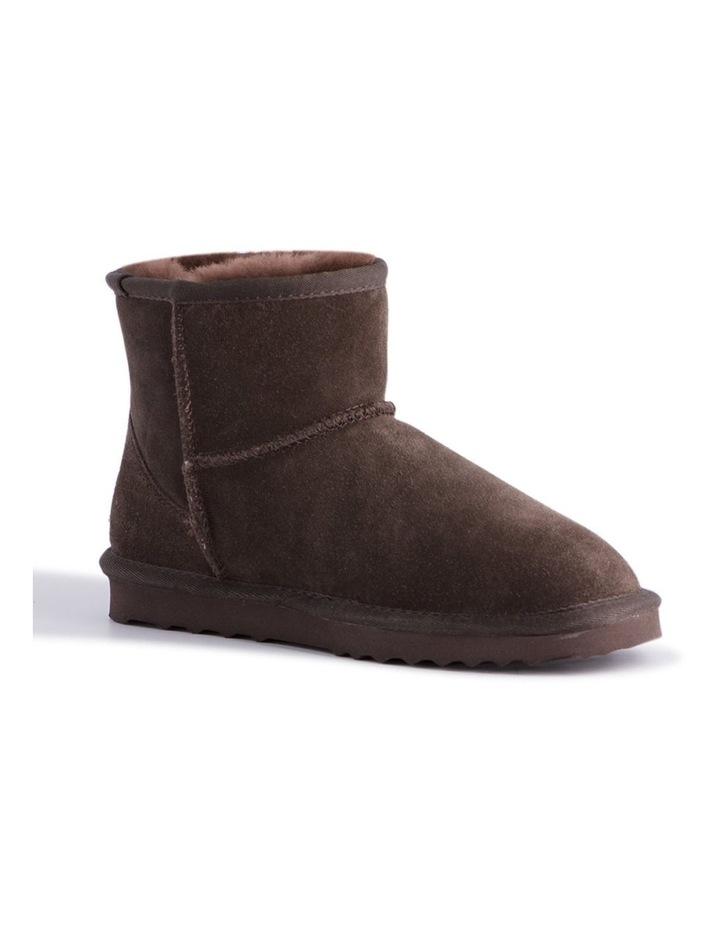 Short Sheepskin Ankle Boot - Chocolate image 1