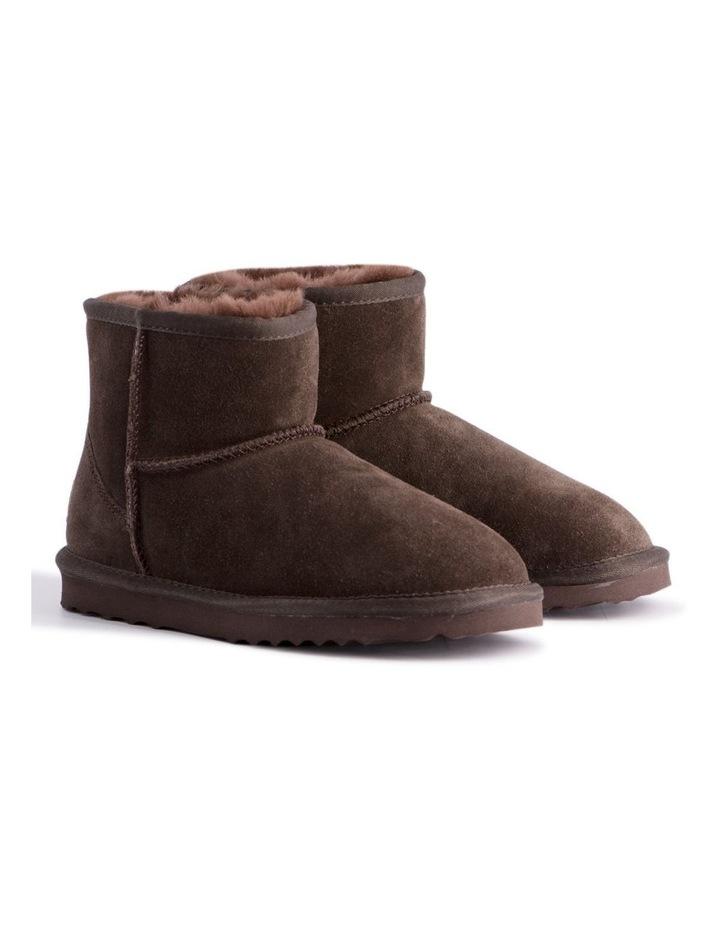 Short Sheepskin Ankle Boot - Chocolate image 2