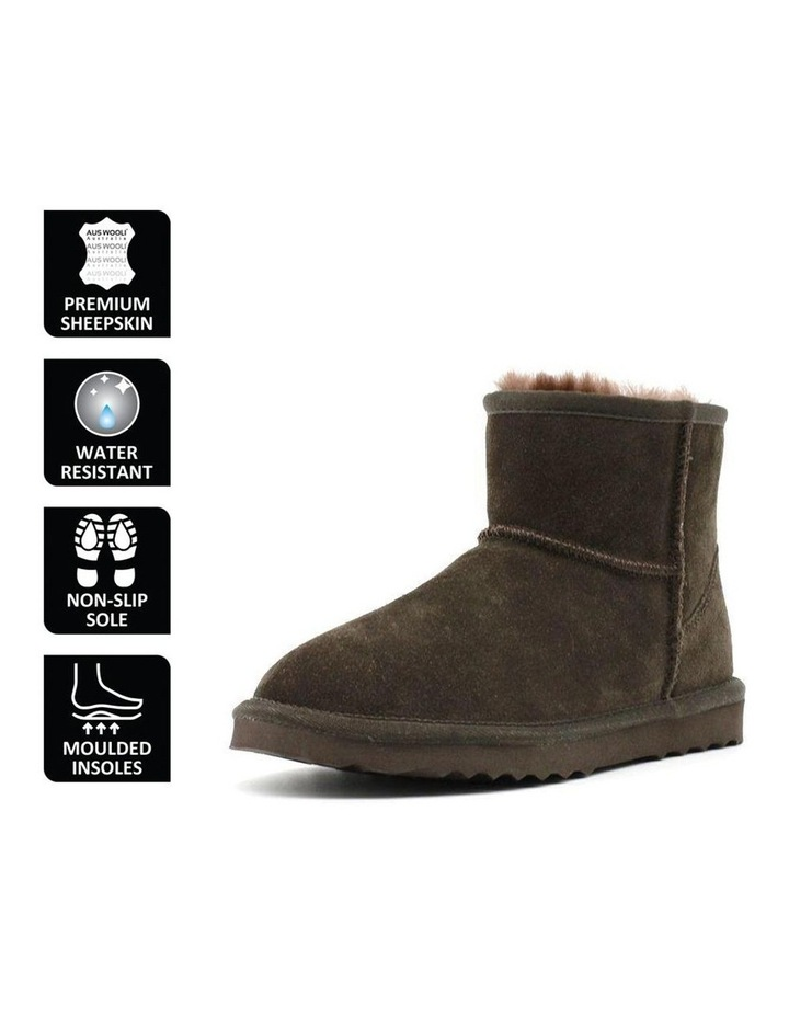 Short Sheepskin Ankle Boot - Chocolate image 6