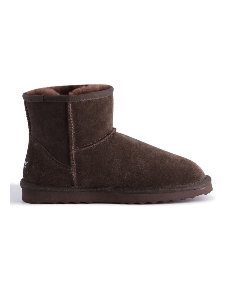 Short Sheepskin Ankle Boot - Chocolate image 7