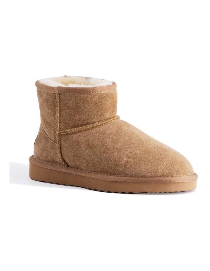 Short Sheepskin Ankle Boot - Chestnut/Tan image 1