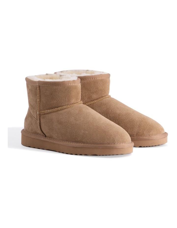 Short Sheepskin Ankle Boot - Chestnut/Tan image 2