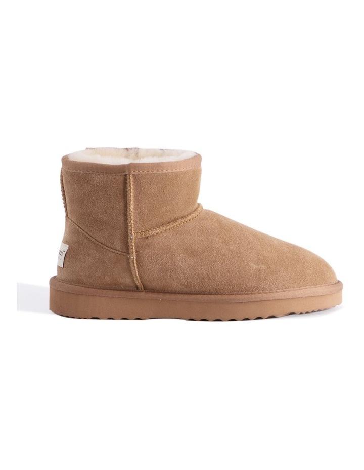 Short Sheepskin Ankle Boot - Chestnut/Tan image 6