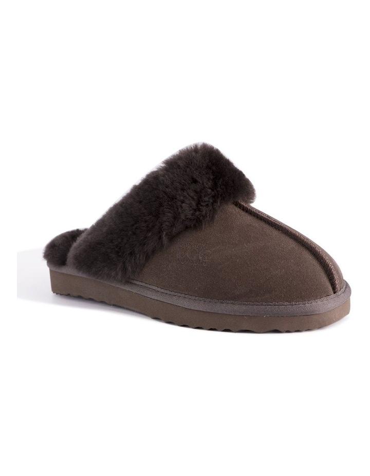 Unisex Sheepskin Wool Sydney Slippers - Chocolate image 1
