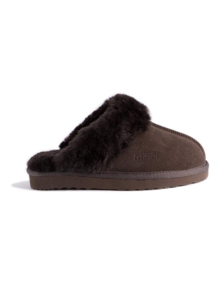 Unisex Sheepskin Wool Sydney Slippers - Chocolate image 2